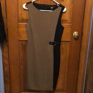 Size 4 brown and black dress